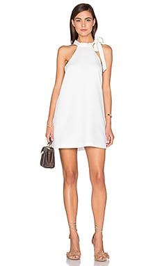 J.O.A. Sleeveless Shift Dress in White