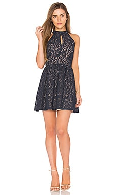 Sleeveless Fit & Flare Dress in Navy