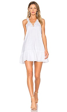 Lace Up Mini Dress in White