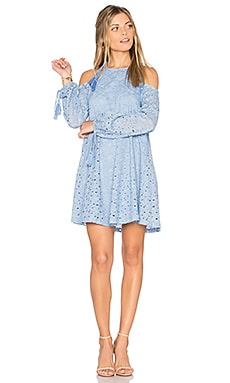 Cold Shoulder Lace Dress en Bleu