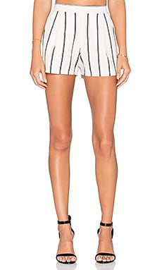 J.O.A. Striped Short in White