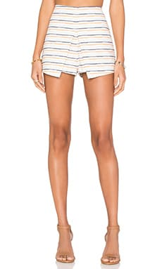 J.O.A. Stripe Short in Coral Multi