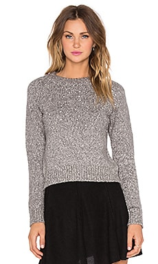 J.O.A. Jewel Detail Sweater in Grey