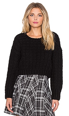 J.O.A. Crop Sweater in Black