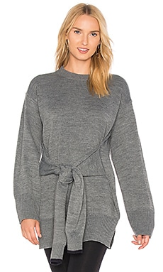 Tie Front High Slit Sweater