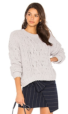 Side Slit Cable Front Sweater