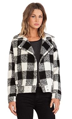 J.O.A. Wollen Jacket in Black & White