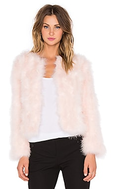 J.O.A. Ostrich Jacket in Baby Pink
