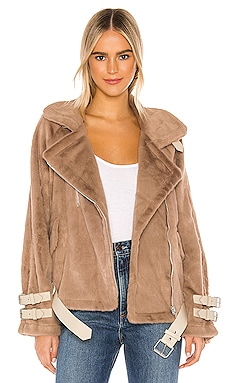 Faux Fur Biker Jacket J.O.A. $51 (FINAL SALE)