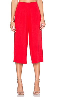 J.O.A. High Waisted Trouser in Red