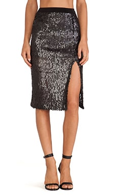 J.O.A. Sequin Skirt in Black