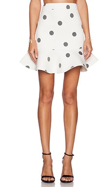 J.O.A. Dotted Skirt in Ivory