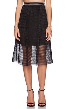 J.O.A. Mesh Skirt in Black