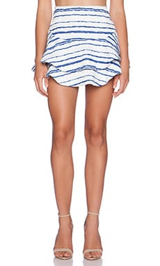J.O.A. Striped Skirt in Blue