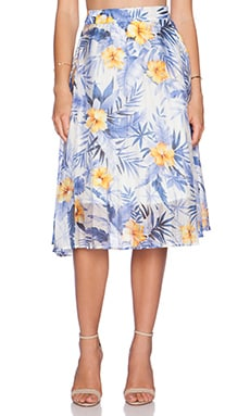 J.O.A. Hawaiian Skirt in Blue Iris