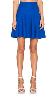 J.O.A. Flare Mini Skirt in Royal