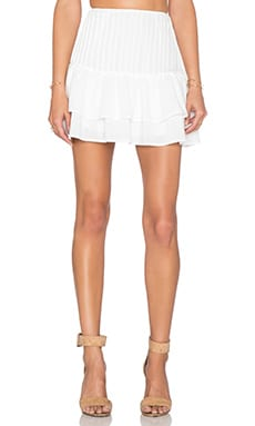 J.O.A. x REVOLVE Flouncy Mini Skirt in White