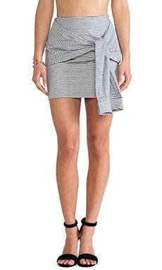 Two-Fer Striped Skirt