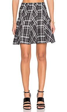 J.O.A. Plaid Mini Skirt in Grey
