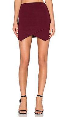 J.O.A. Wrap Mini Skirt in Burgundy