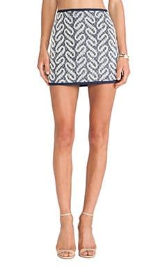 Swirl Printed Round Hem Skirt