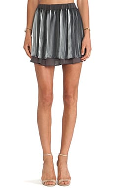 J.O.A. Pleated Short Skirt in Grey