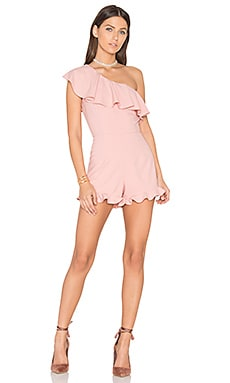 One Shoulder Romper in Blush Pink