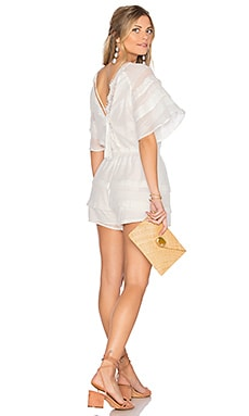 Sheer Woven Short Romper in White
