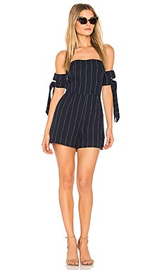 Tie Sleeve Off The Shoulder Romper