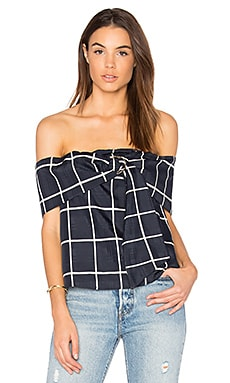 Plaid Off The Shoulder Top
