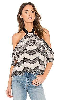 Halter Neck Lace Top