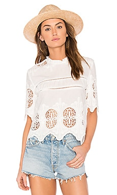 Scalloped Lace Mix Top