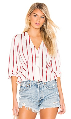 92f3f92f7e5c28 Striped Deep V Neck Top J.O.A.  82 ...