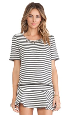 Striped Embo Top