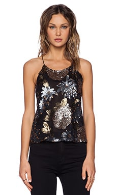 J.O.A. Embellished Camisole in Black
