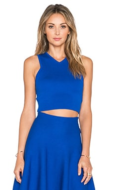 J.O.A. Sleeveless Crop Top in Royal