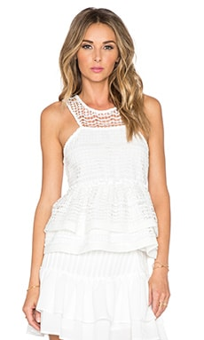 J.O.A. x REVOLVE Cut Out Tank in Ivory
