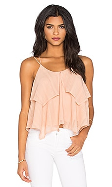 Ruffle Tank in Dusty Pink