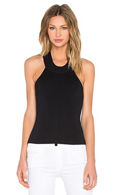 Knit Halter Top en Negro