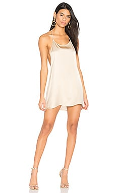 Silk T Back Dress in Champagne