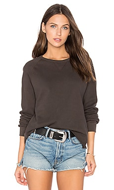 Grunge Cut Off Sweatshirt in Charcoal