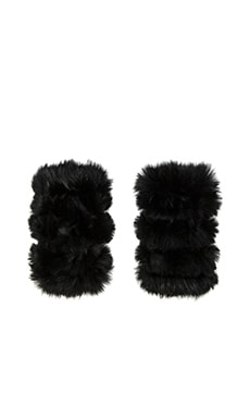 jocelyn Mandy Rabbit Mittens in Black