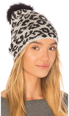Knit Hat With Fox Pom jocelyn $95