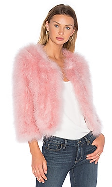 Turkey Feather Bolero in Pink