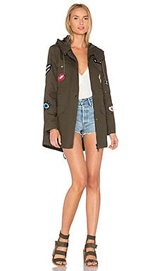 Cargo Coat With Exclusive Patches в цвете Оливковый