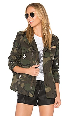 Field Jacket With Stars en Camouflage
