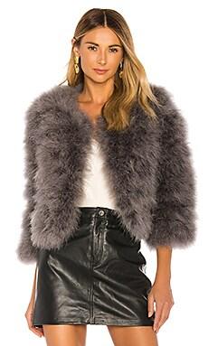 Fifi Solid Feather Bolero Jacket jocelyn $295