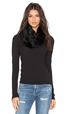 Rabbit Infinity Scarf in Black