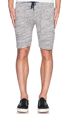 Joe's Jeans Cohen Jogger Short Multi Heather Slub Jersey in Heather Grey Navy
