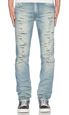 Joe's Jeans The Brixton Myron in Light Blue Destroyed
